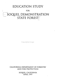 Soquel Demonstration State Forest Education Study PDF