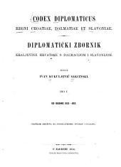 Codex diplomaticus regni Croatiae, Dalmatiae et Slavoniae: Diplomatički zbornik Kraljevine hrvatsks Dalmacijom i Slovonijom