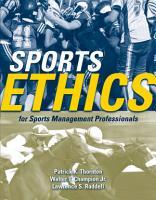 Sports Ethics for Sports Management Professionals PDF
