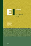 Encyclopaedia of Islam Three Yearbook 2012