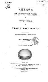 San Kokf Tsou, Ran To Sets ou Aperçu général des trois Royaumés: Volume1