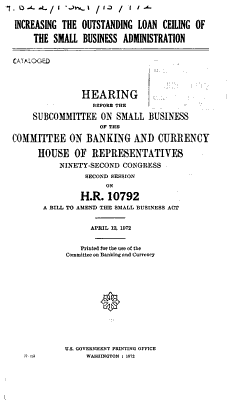 Hearings  reports and prints of the House Committee on Banking and Currency PDF