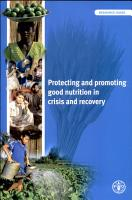 Protecting and Promoting Good Nutrition in Crisis and Recovery PDF
