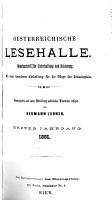 Oesterreichische Lesehalle PDF
