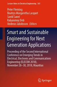 Smart and Sustainable Engineering for Next Generation Applications PDF