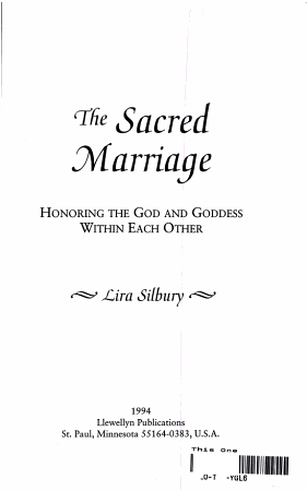 The Sacred Marriage PDF