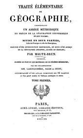 Traité élémentaire de Géographie: Volume1