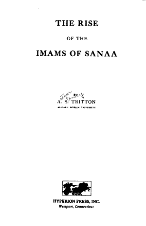 The Rise of the Imams of Sanaa