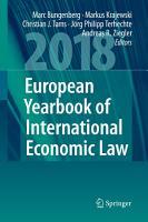 European Yearbook of International Economic Law 2018 PDF