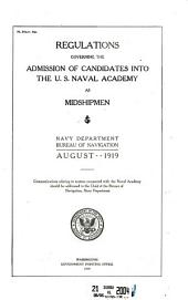 Regulations governing the admission of candidates into the U.S. Naval Academy as midshipmen