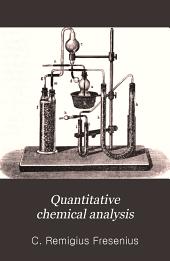 Quantitative chemical analysis: Volume 2