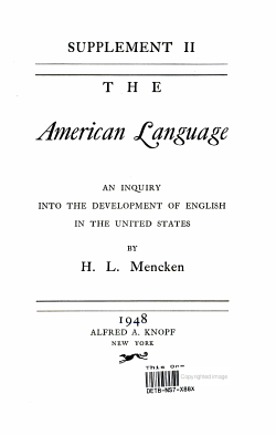 Supplement II The American Language PDF