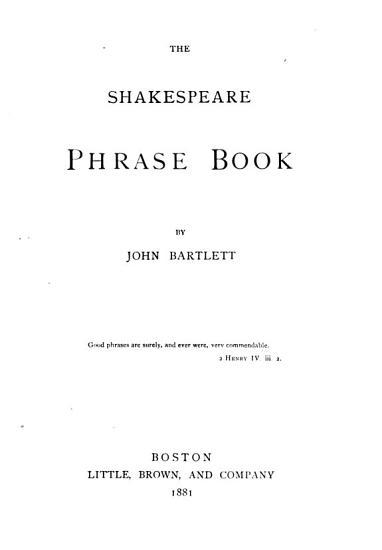 The Shakespeare Phrase Book PDF