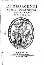 De regimenti publici de la Citta