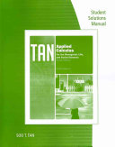 Student Solutions Manual for Tan s Applied Calculus for the Managerial  Life  and Social Sciences  A Brief Approach  9th PDF