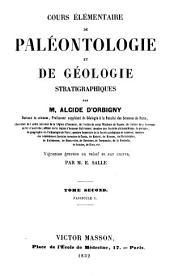 Cours élémentaire de paléontologie et de géologie stratigraphiques: Volume2