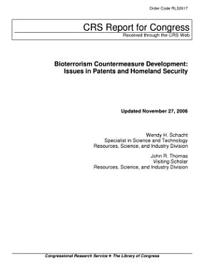 Bioterrorism Countermeasure Development PDF
