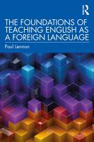 The Foundations of Teaching English as a Foreign Language PDF