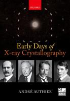 Early Days of X ray Crystallography PDF