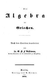 Versuch einer kritischen Geschichte der Algebra
