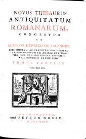 Novus thesaurus antiquitatum romanarum: Volume 1