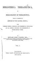 Bibliotheca Therapeutica  Or  Bibliography of Therapeutics PDF