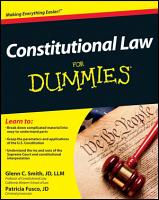 Constitutional Law For Dummies PDF