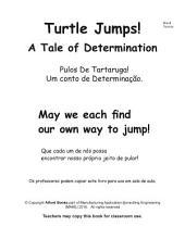 Pulos De Tartaruga! Portuguese Brasil Turtle Jumps: Um conto de Determinação. A Tale of Determination