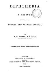 Diphtheria, a lecture: Volume 6