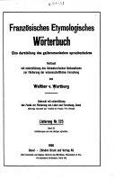 Franz  sisches etymologisches W  rterbuch PDF