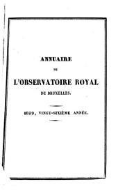 Annuaire de l'Observatoire royal de Bruxelles: Volume26