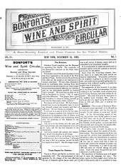 Bonfort's Wine and Spirit Circular: Volume 21