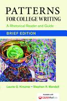 Patterns for College Writing  Brief Edition PDF