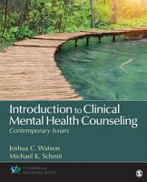 Introduction to Clinical Mental Health Counseling PDF