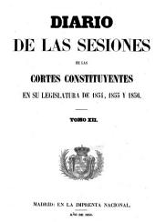 Diario de las sesiones de Cortes: Volumen 12