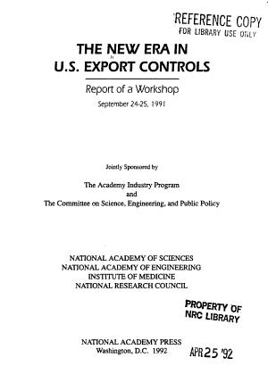 The New Era in U S  Export Controls PDF