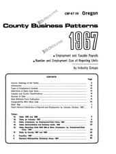 County Business Patterns, Oregon: Volume 3