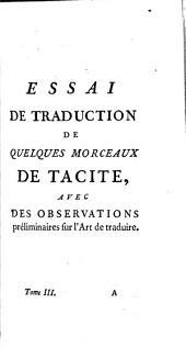 Mélanges de littérature, d'histoire et de philosophie: Volume3