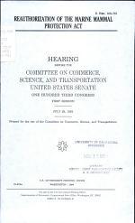 Reauthorization of the Marine Mammal Protection Act