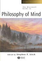 The Blackwell Guide to Philosophy of Mind PDF