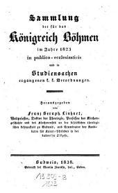 Sammlung der für das Königreich Böhmen in publico-ecclesiasticis und in Studiensachen ergangenen k.k. Verordnungen: Band 5