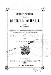 Constitucion de la Republica Oriental del Uruguay (etc.)