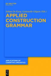 Applied Construction Grammar PDF