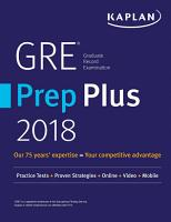 GRE Prep Plus 2018 PDF