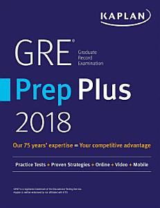GRE Prep Plus 2018 Book