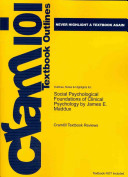 Outlines  Notes   Highlights for Social Psychological Foundations of Clinical Psychology by James E  Maddux PDF