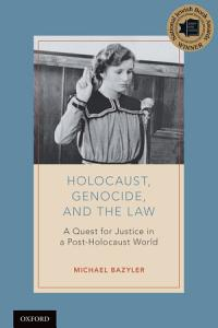 Holocaust  Genocide  and the Law Book