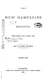The New Hampshire Reports: Volume 69
