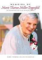 Memoirs of Marie Therese Miller  N  e Countess Degenfeld Schonburg PDF