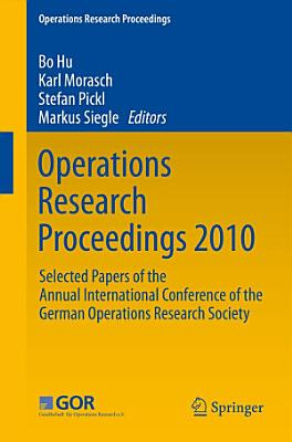 Operations Research Proceedings 2010 PDF
